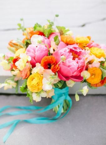 wedding bouquet - summer palette
