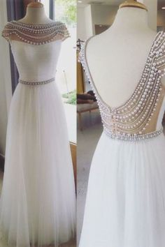 bridal fashion pearl wedding dress